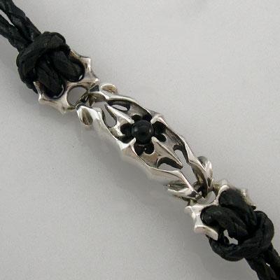 sterling silver rock star bracelet details