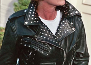 Ladies Super Studded Black Leather Jacket