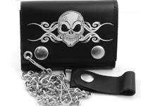Death Skull Leather Wallet