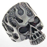 Demon Eyes Biker Ring