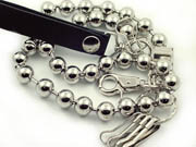 Silver Bell Biker Chain