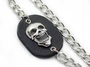 Steel Mesh Skull Biker Chain