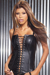 Leather Corset with lace up