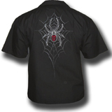 Black Widow Death Biker Shirt