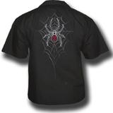 Black Widow Death Biker Shirt