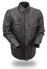 Men's Lightweight Leather Shirt-The Way It Should Be