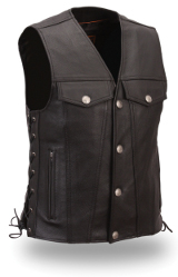 Men's Leather Buffalo Nickel Vest