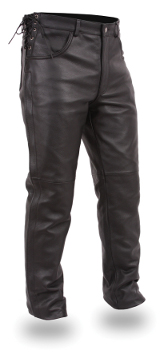 Men's Leather Deep Pocket Overpant