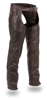 Leather Unisex Double Deep Pocket Thermal Chap