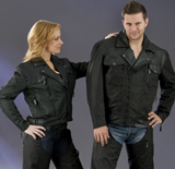Womens Leather / Nylon Jacket