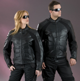 Mens Preforated Leather Jacket