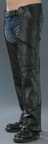 3 Pocket Leather Chaps