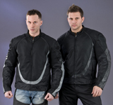 Mens Nylon and Leather Jackets