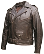 Men's Distressed Brown Motorcycle Style Jacket
