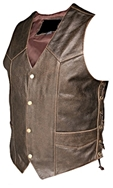 Men's Distressed Brown Lace Vest