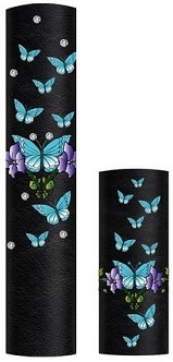 Turquoise Butterflies with Rhinestones