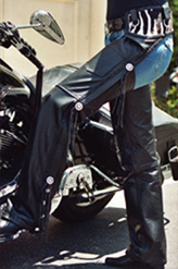 Custom Leather Biker Chaps
